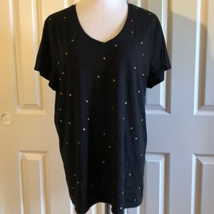 NWOT Gap Favorite tee with glitter hearts